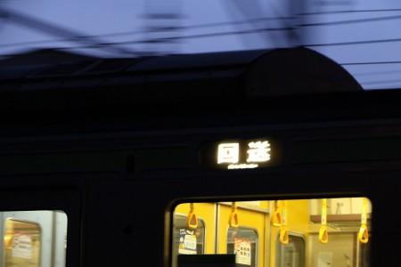 回送電車-シャッタスピード1/25