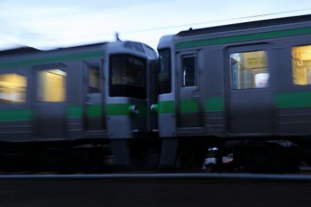 回送電車-連結部分