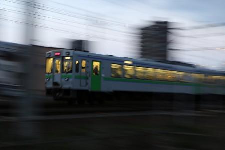 然別行き列車-1/8流し撮り