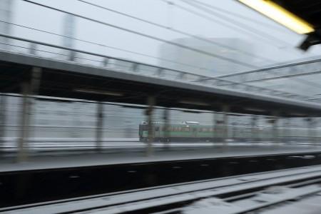 普通電車-スローシャッター流し撮り1/8秒