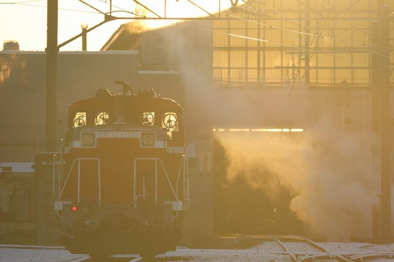 15分ほど遅れた急行はまなす-札幌運転所に居たお座敷列車