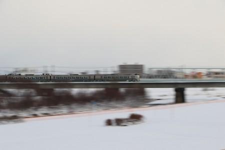 豊平川鉄橋-流し撮り