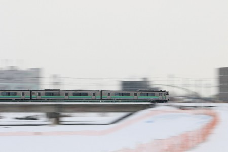 豊平川鉄橋-キハ201系