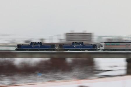 豊平川鉄橋-カシオペア