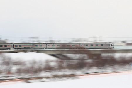 カシオペア客車-豊平川鉄橋