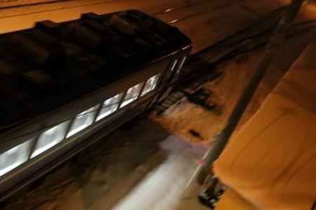 急行はまなす-手稲駅 夜間撮影