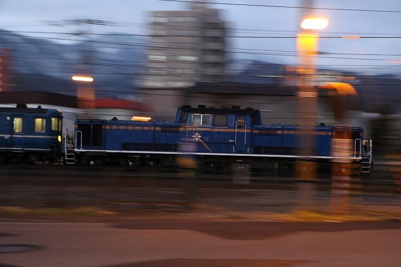 回送スーパー北斗2号から急行はまなすを-札幌運転所で列車の入れ替えを楽しむ