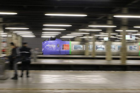 流し撮り-スーパーおおぞら 札幌駅