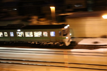 流し撮り-滝川行き普通電車