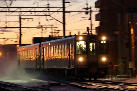 流し撮り-然別行き普通列車