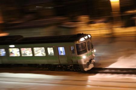 流し撮り-普通電車 滝川行き