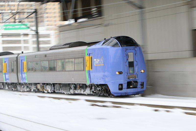 走ったサロベツおかえりスーパー宗谷−昼の札幌駅でこんにちは