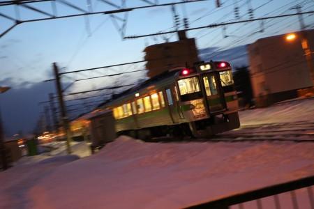 流し撮り-回送電車