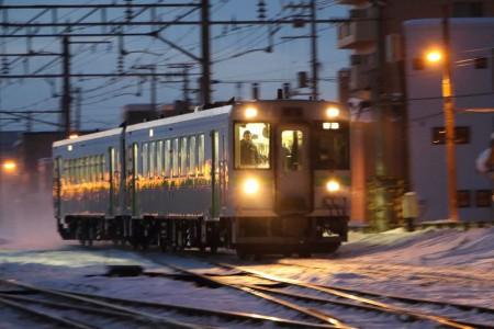 流し撮り-然別行き列車