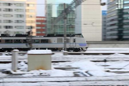 流し撮り-札幌駅 オホーツク
