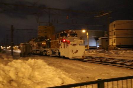 手稲駅付近-ラッセル車 除雪車