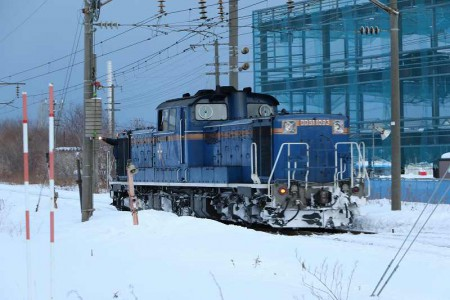 札幌運転所-はまなす 折り返し1番線へ