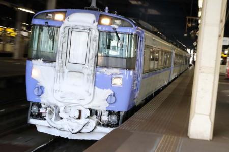 ズーム流し-札幌駅 オホーツク