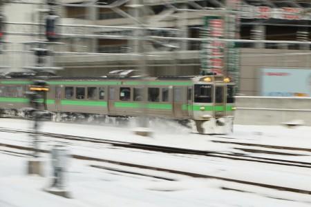 流し撮り-札幌駅