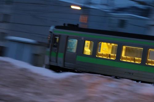 前流し-手稲駅付近 721系