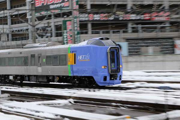 7番線への回送入線-スーパー宗谷 SE201