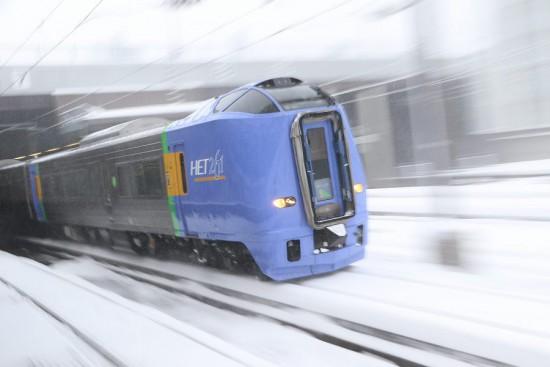 ズーム流し 札幌駅-スーパー宗谷1号 261系100番代
