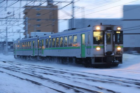小樽方面 1番列車-然別行き キハ150
