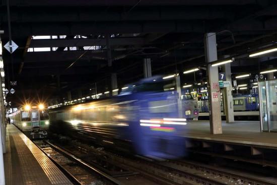 光線撮り-スローシャッター 列車