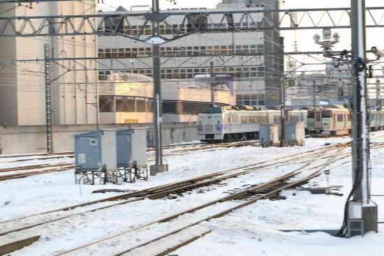 オホーツク-11D 札幌駅 流し撮り