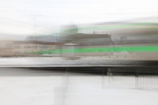 スローシャッター 列車-流し撮り 1.3秒