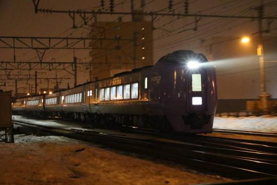 回送スーパー北斗13号-札幌運転所へ 手稲駅付近 通過