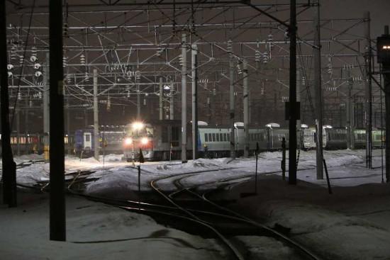 261系甲種輸送-札幌運転所 14番線