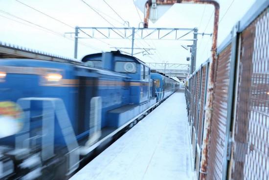 稲積公園駅 はまなす-機関車 DD51