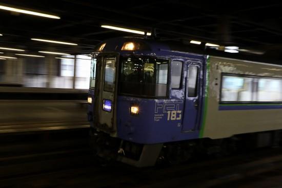 札幌駅 流し撮り-北斗4号 キハ183系