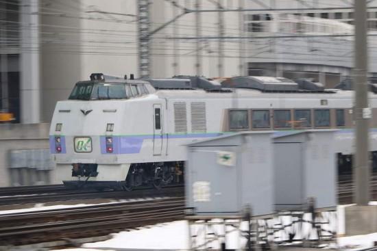 オホーツク1号 11D-流し撮り 札幌駅 キハ183 215
