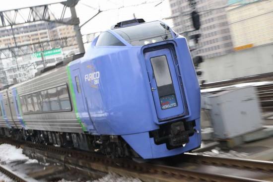 ズーム流し 札幌駅-スーパー北斗4号