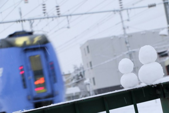 雪だるま-キハ283系-スーパーおおぞら