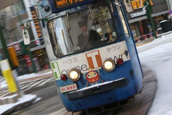 札幌市電 4丁目交差点-流し撮り 243