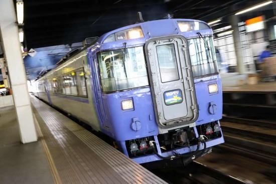 ズーム流し 札幌駅-特急サロベツ 発車