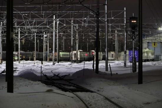 夜 札幌運転所-留置線