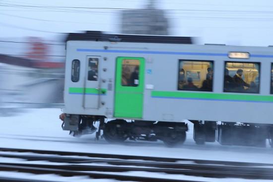 流し撮り-列車 然別行き