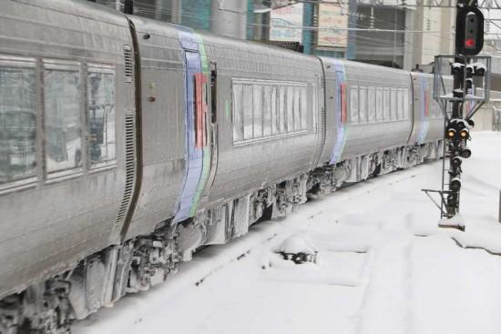 ズーム流し-スーパーおおぞら 札幌駅
