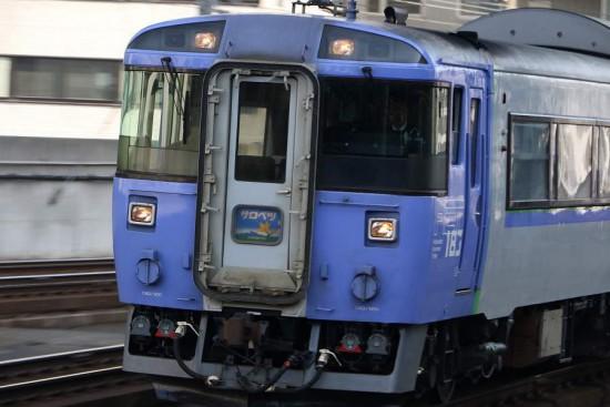 ズーム流し 流し撮り-札幌駅 サロベツ