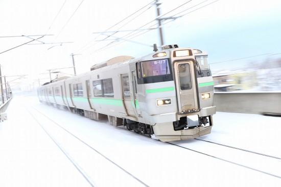 稲積公園駅 回送-733系 B-117