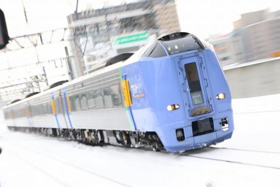 ズーム流し 特急-スーパー宗谷 札幌駅 キハ261系