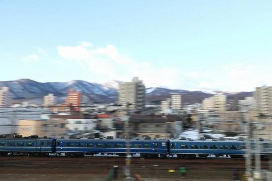 急行はまなす 札幌運転所へ ラストラン 流し撮り 手稲駅