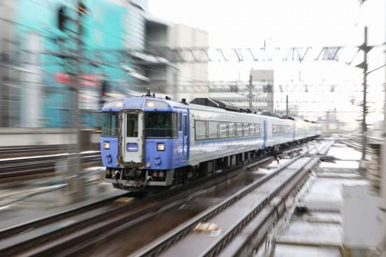 ズーム流し 北斗-札幌駅