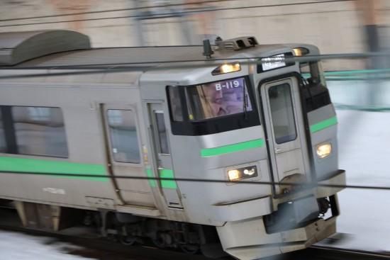 手稲駅 苫小牧行き-733系 B119
