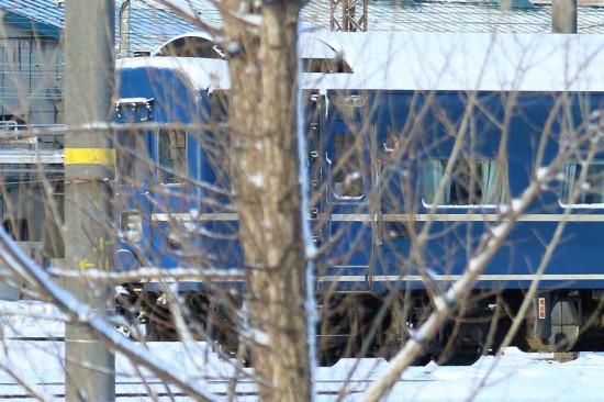 札幌運転所 スハネフ14 552-パネル部分拡大