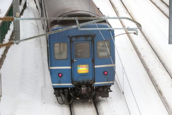 回送 急行 はまなす DD511140-手稲駅付近 人道橋